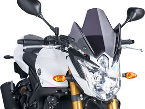 PUIG NAKED NEW GENERATION WINDSHIELD (DARK SMOKE) Fits: Yamaha FZS800 FZ8