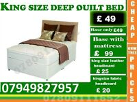 King Sizes, Double and Single Frame available , Bedding