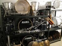 Drum,pedale double,cymbales,items,etc...