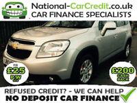Chevrolet Orlando 2.0 VCDI LT 130PS Good / Bad Credit Car Finance (black) 2013