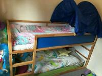 Kids wooden bunk bed from Ikea with mattresses RRP £150!!