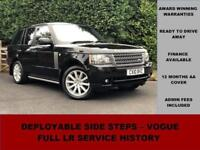 2010 Land Rover Range Rover TDV8 Vogue, ELECTRIC SIDE STEPS, BLACK, FULLY LOADED