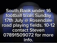 Football trials local team, based in South London