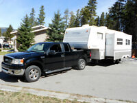 2007 ford and 2003 springdale 5th wheel  25ft with BUNKS