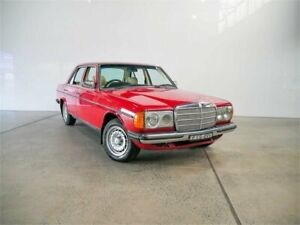 1982 Mercedes-Benz 230 W123 E Signal Red 4 Speed Automatic Sedan Petersham Marrickville Area Preview