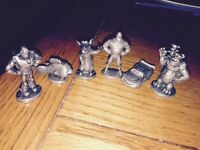 Pewter Disney Pixar characters lot (6)