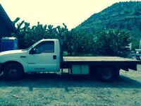 2001 Diesel Ford F-350 with 12ft flat deck