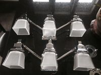 Two sets of vanity lights