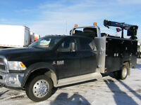 2014 Dodge Ram 5500 Crew 4X4 dually diesel mechanics truck