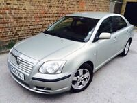 55 PLATE TOYOTA AVENSIS T3-X D4-D 2 OWNERS 75K MILES WITH 8 STAMP HISTORY