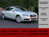 2009 Audi A4 1.8 TFSI SE 160PS, SILVER, PETROL, B8, ALLOYS,