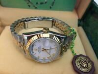 Men's Rolex Oyster Day Date Perpetual Automatic Watch, two tone