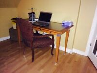 Natural wood rectangle desk table