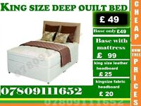 King Sizes Base , double and single also available / Bedding