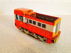 Vintage Tomiyama Tin Litho Battery Operated Toy Shuttle Train