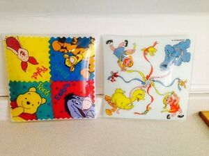 Vintage Winnie The Pooh and Sesame Street Ceiling Light Shades