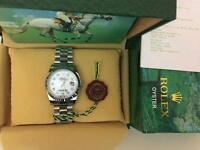 New Swiss Men's Rolex Oyster Datejust Perpetual Automatic Watch, Stone face