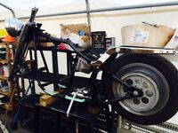 Harley Softail chassis assembly