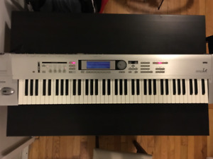 Korg Triton LE + soft case and piano stand