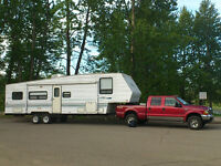 REDUCED ! REDUCED! 30ft SALEM Toyhauler/5th Wheel and FORD F 350