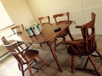Birch table set 150$