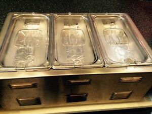 3 compartment food warmer
