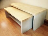 Matching coffee table and bench for sale (3 sets available)