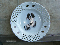 collector plate of St.Bernard Dogs