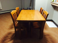 Dining Table with 4 chairs (SET)