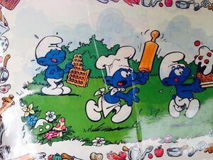 1981 peyo Smurfs placemat