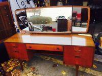 Beautiful Mid Century Teak Dressing Table/ Desk
