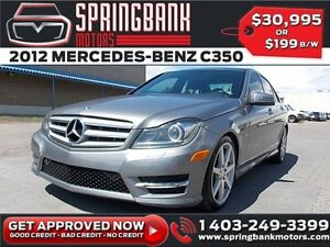 2012 Mercedes Benz C-Class C350 4MATIC w/Leather, Sunroof, Navi