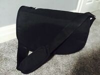 Black Mothercare pram changing bag