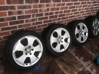 4x Audi A3 17 inch Sport Alloys with tyres 225 45 17