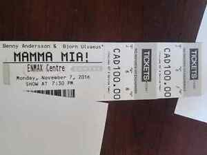 Mama Mia tickets lethbridge November 7, 2016 GREAT SEATS!!!