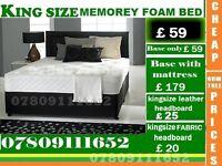 SHAM Double Single King Size Small Double Base Memory Foam Base Frame Bedding