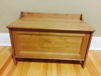 Ikea Leksvik toy chest/bench antique stain