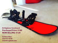 K2 Great Condition Snowboard with Binding for Immediate Sale!!