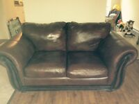 SOLD!!! Leather couch and love seat! Pick up only