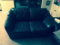Leather love seat and Leather chair set