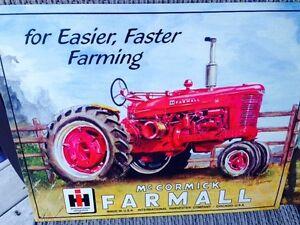 McCormick farmall tractor tin