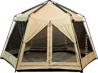 World Famous 13x12 Foot Lodge Screen Tents with Rain Flaps