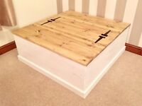 NEW-Extra Large Rustic Country Shabby Chic Ottoman Coffee Table***£119***FREE DELIVERY