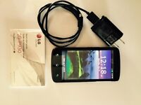 LG CELL PHONE AND CHARGER also Camera