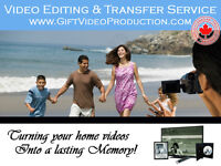 Photo album & home videos on DVD - Professional editing