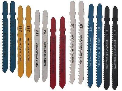 14x Stichsägeblätter Set 100mm 6x Holz + 8x Metall Sägeblatt Stichsäge T-Schaft