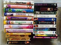 Assortment of movies, VHS & DVD