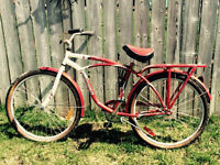"Schwinn Point Beach 26"" Cruiser Bike, Red and White $100"