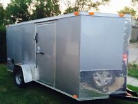 12'x6' enclosed cargo trailer outfitted for contractor
