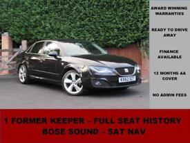 2012 62 SEAT Exeo 2.0 TDI CR SPORT TECH 143PS, BLACK, MANUAL, SAT NAV, BOSE